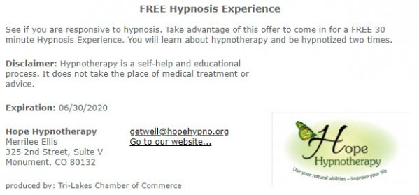 FREE Hypnosis Experience